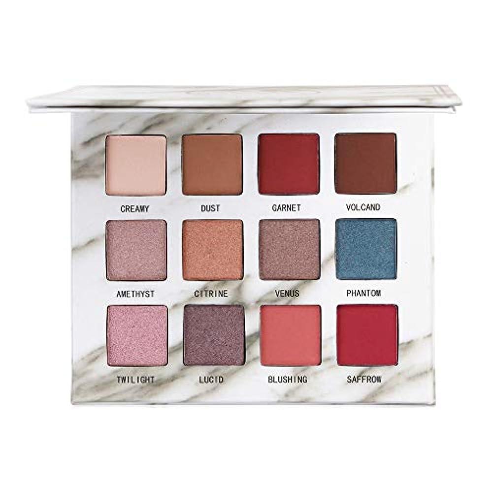 四半期合理化記念品12色のきらめきのきらめきのアイシャドウの粉のマットのアイシャドウの化粧品の構造