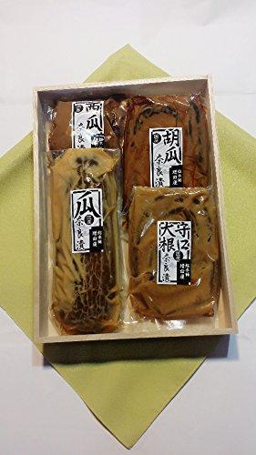 奈良漬 特選 木箱 4,100 奈良で作りました 瓜 胡瓜 守口大根 西瓜 国産材料 使用 選べる風呂敷付