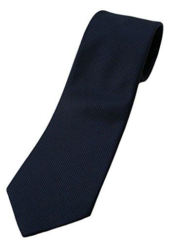 (フェアファクス) FAIRFAX シリーズ中最も深いネイビー、無地ネクタイ シルク100% バスケット織り mj5479