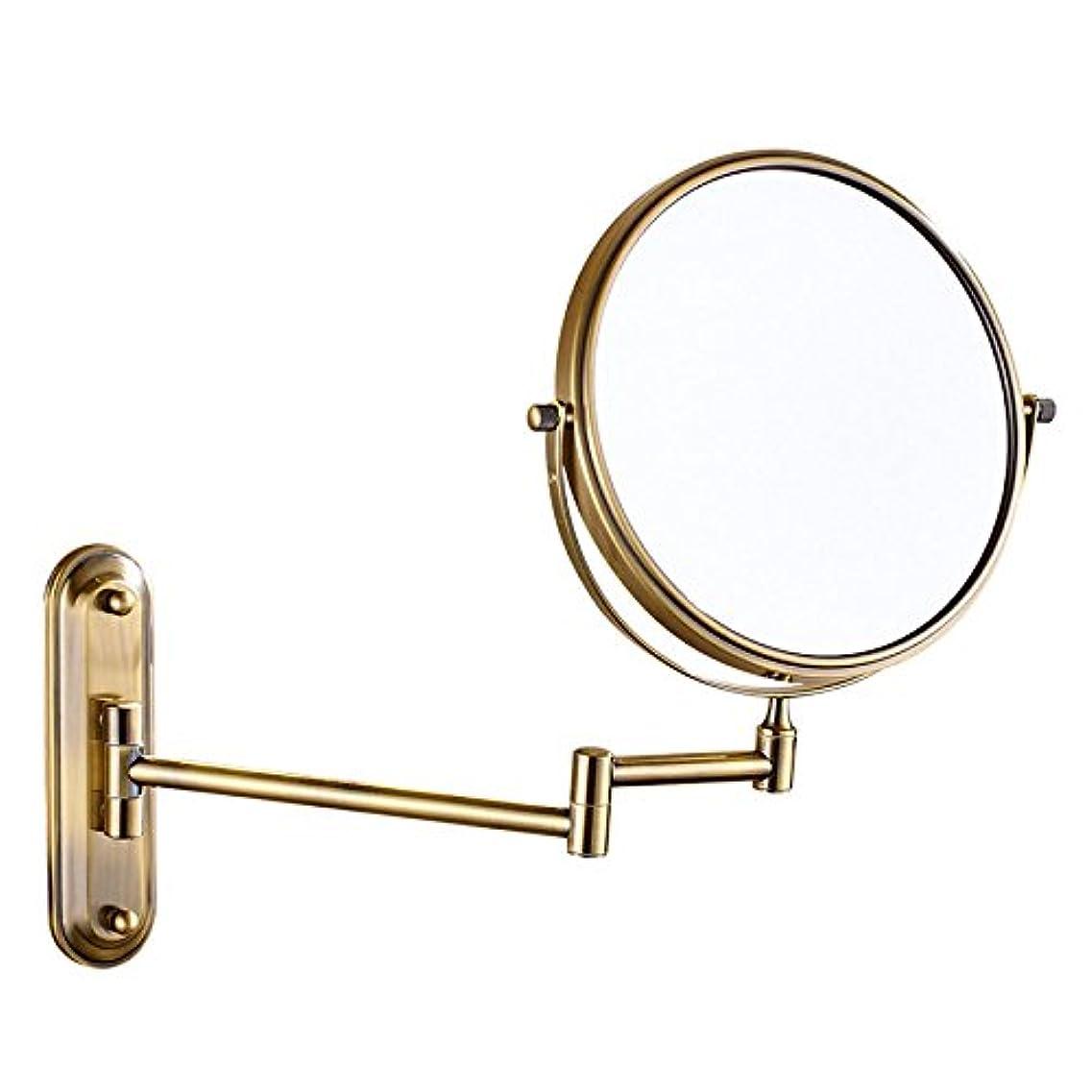 消える相続人生き残りバスルーム、シェービングミラー、回転ミラー、バスルーム、メイクアップミラー、折りたたみ、クリエイティブ、化粧品ミラー、双方向ミラー、拡大鏡、,Gold-6