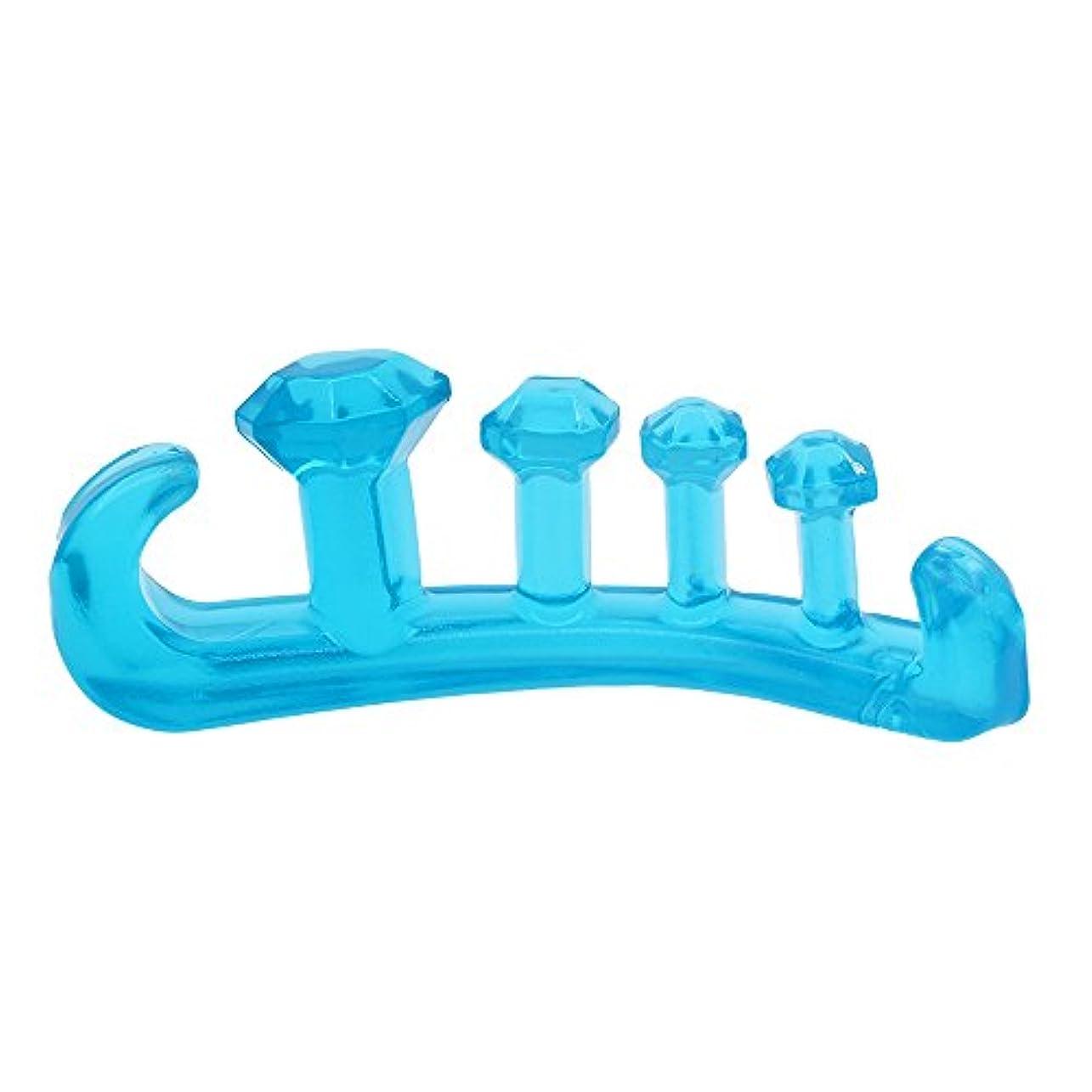 柔らかい足ジャンル制限するCloseMate 足指 セパレーター 5本指 ブルー (L)
