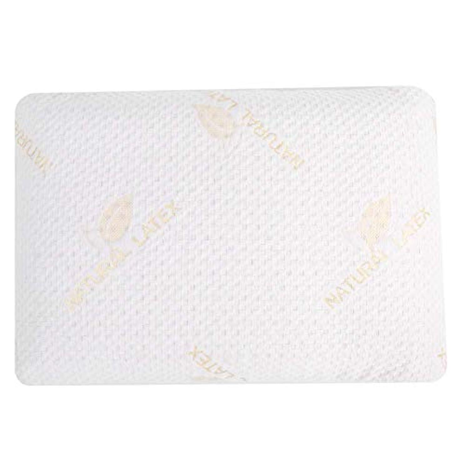 テラスパノラマナイロンラテックス枕、通気性低反発枕自然な成人頸部マッサージヘルスケア首クッション用睡眠