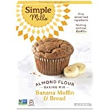 Simple Mills Almond Flour Baking Mix, Gluten Free Banana Bread Mix, Muffin Pan Ready, Made with whole foods, (Packaging May V