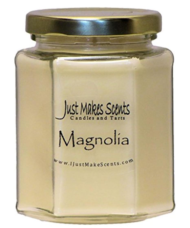 まとめる借りている活気づけるマグノリア香りつきBlended Soy Candle by Just Makes Scents