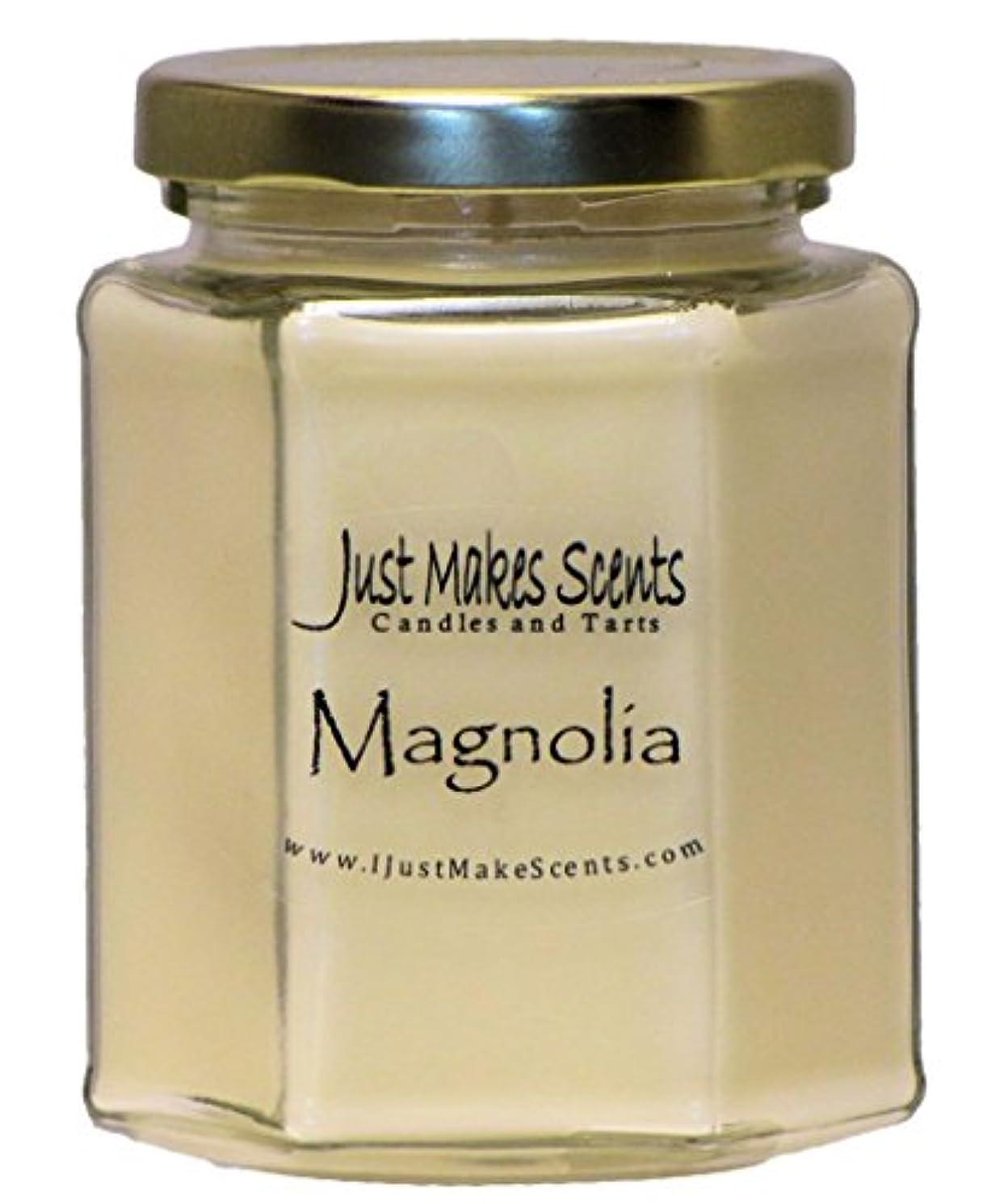 十代の若者たち一掃する寄付するマグノリア香りつきBlended Soy Candle by Just Makes Scents