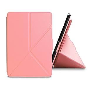 WALNEW Amazon Kindle Paperwhite用 カバー  折り紙カバー  スタンドカバー  高級PUレザーケース,ピンク