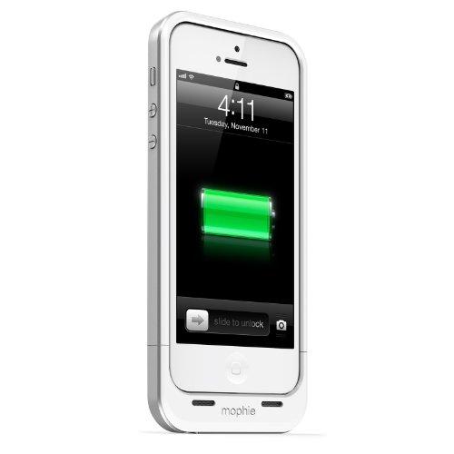 日本正規代理店品 保証付mophie juice pack air for iPhone SE/5s/5 (1,700mAh バッテリー内蔵ケース) ホワイト MOP-PH-000031