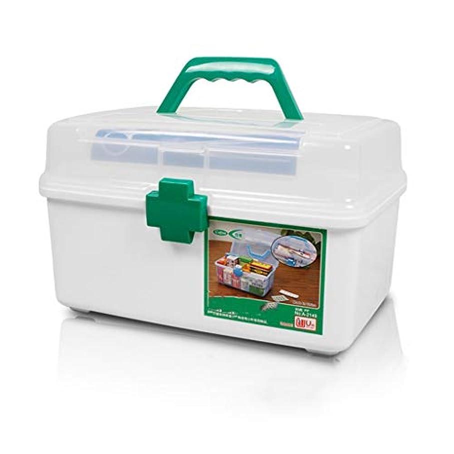 ディスク哲学浴LLSDD 家庭用薬箱収納ボックス大容量子供緊急旅行医療ポータブルアンチドロッププラスチック薬箱
