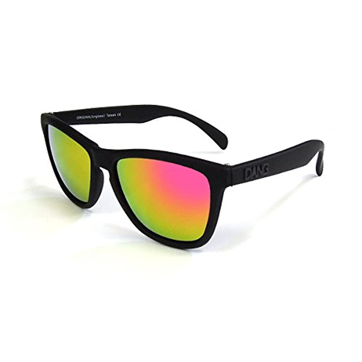 誠意ジム安全なダン シェイディーズ (DANGSHADES) ORIGINAL Black Soft x Pink Fire Mirror スケートボード サングラス メンズ レディース ミラーレンズ