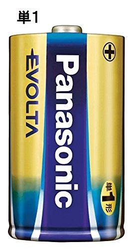 『パナソニック エボルタ 単1型アルカリ乾電池 4本パック LR20EJ/4SW』の1枚目の画像