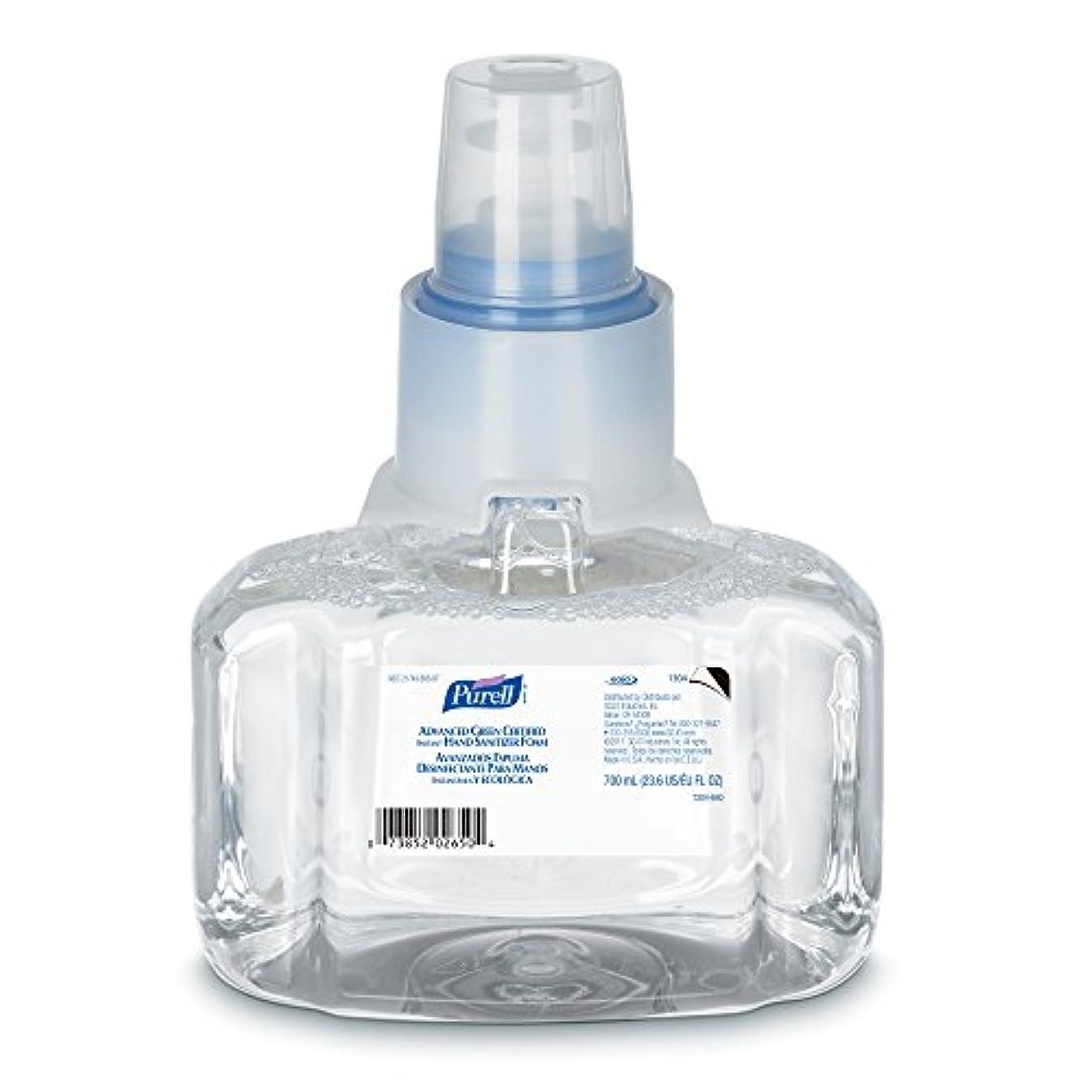 貼り直す前兆鍔Purell 1304-03 Advanced Green Certified Instant Hand Sanitizer Foam, 700 ml Refill (Pack of 3) by Purell