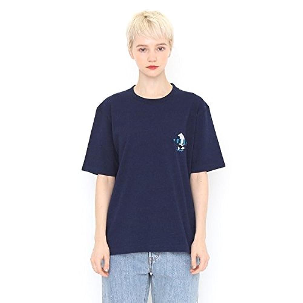 影響力のある階下行列グラニフ(graniph) 【ユニセックス】インディゴダイショートスリーブTシャツ(サーフアップ)