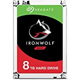 Seagate 8TB IronWolf NAS SATA 6Gb/s NCQ 256MB Cache 3.5-Inch Internal Hard Drive (ST8000VN0022)