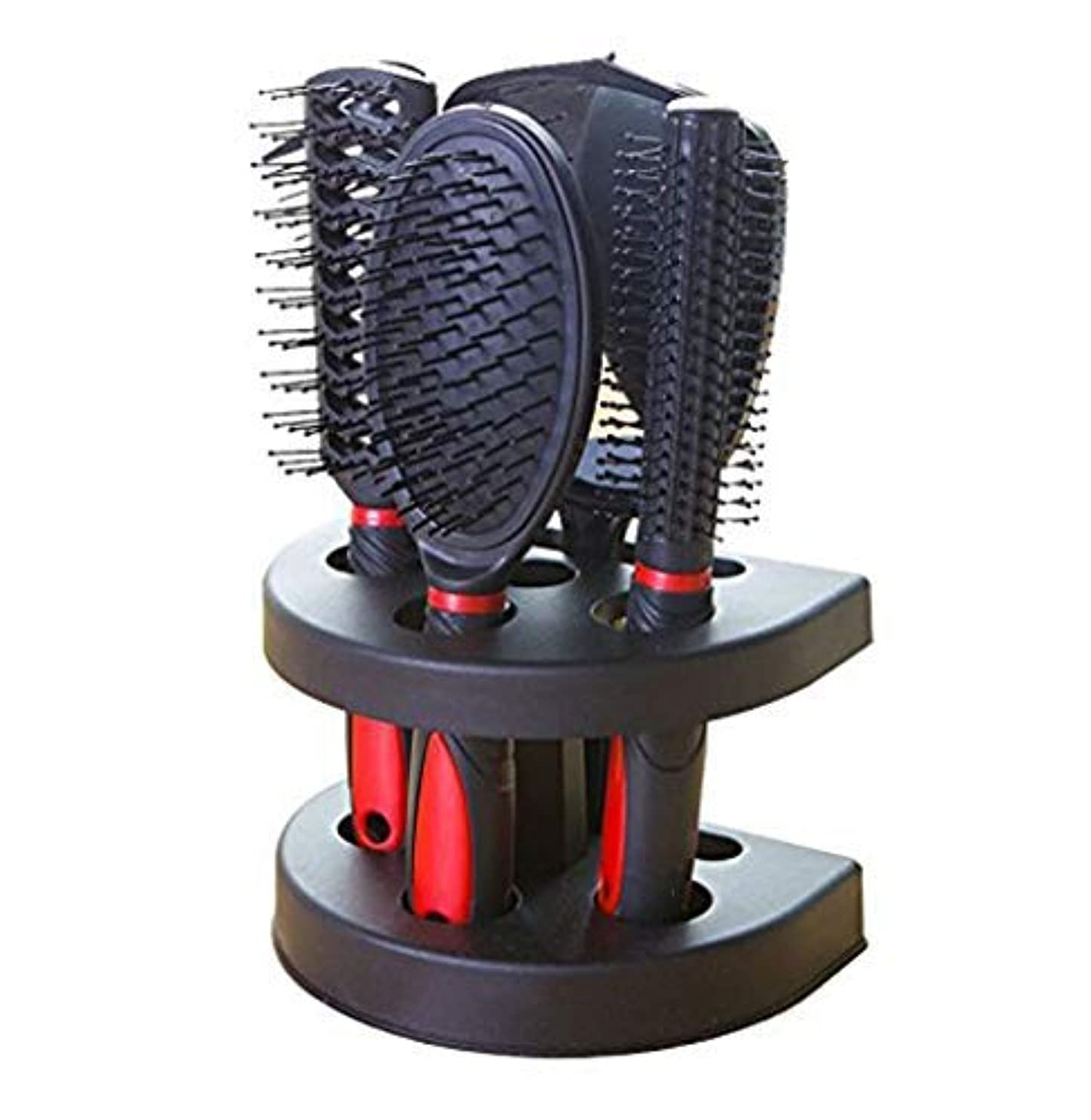 リンス暗黙スクラップブックHealthcom Hairs Combs Salon Hairdressing Styling Tool Hair Cutting Brushes Sets Dressing Comb Kits,Set of 5 [並行輸入品]
