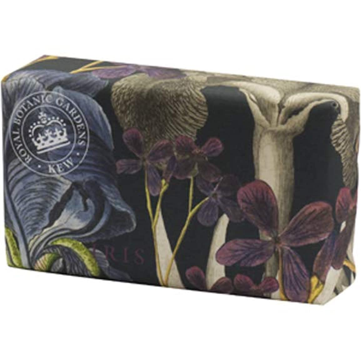吐く娯楽芝生English Soap Company イングリッシュソープカンパニー KEW GARDEN キュー?ガーデン Luxury Shea Soaps シアソープ Iris アイリス