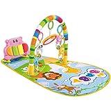 DYNWAVE 赤ちゃん プレイマット 楽器玩具付き ペダル ピアノ カラフル 安全 柔らかい 通気性 かわいい