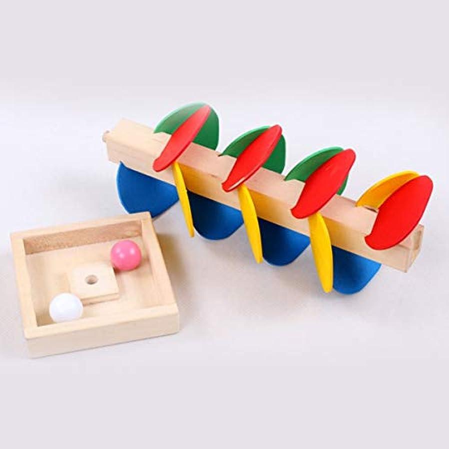 アサート判定バンガローモンテッソーリ教育玩具木の木大理石ボールラントラックゲーム赤ちゃん子供子供知能教育玩具 - マルチカラー