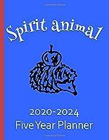 Spirit Animal 2020-2024 Five Year Planner: Hedgehog Gifts For Women Monthly Organizer And Schedule - Powder Blue