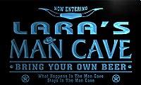 ネオンプレート サイン 電飾 看板 バー pb1678-b Lara's Man Cave Cowboys Bar Neon Light Sign