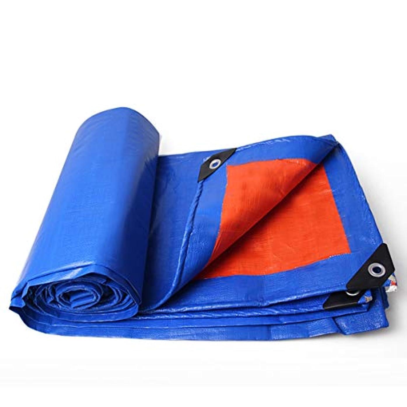 プラス初心者葉0.3 mmマルチサイズターポリン絶縁防水日焼け止めオーニングクロスPEブルーオレンジポンチョターポリン (Size : 3*3M)
