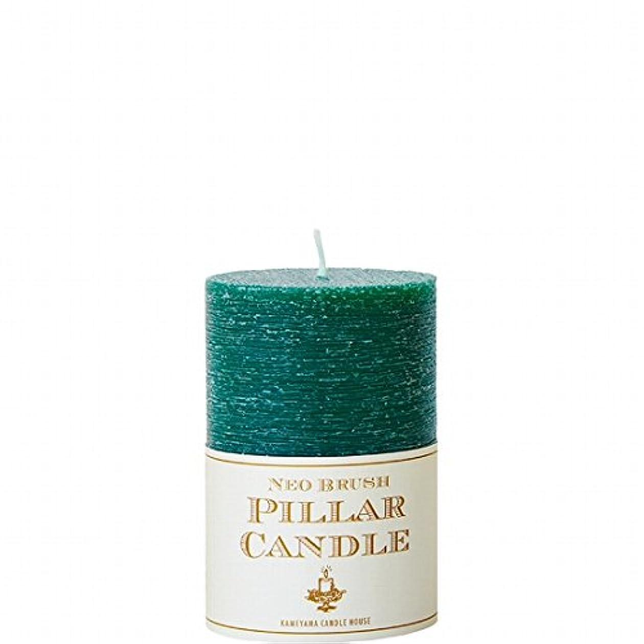 大使館致命的なに変わるカメヤマキャンドル(kameyama candle) ネオブラッシュピラーS キャンドル 「 グリーン 」 6個セット