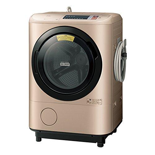 日立 ドラム式洗濯乾燥機 ビッグドラム 右開き 12kg シャンパン BD-NX120AR N