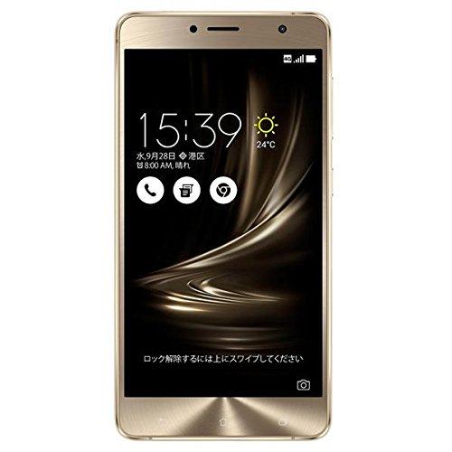 エイスース SIMフリースマートフォン ZenFone 3 Deluxe(Qualcomm Snapdragon 625/メモリ 4GB)64GB ゴールド ZS550KL-GD64S4