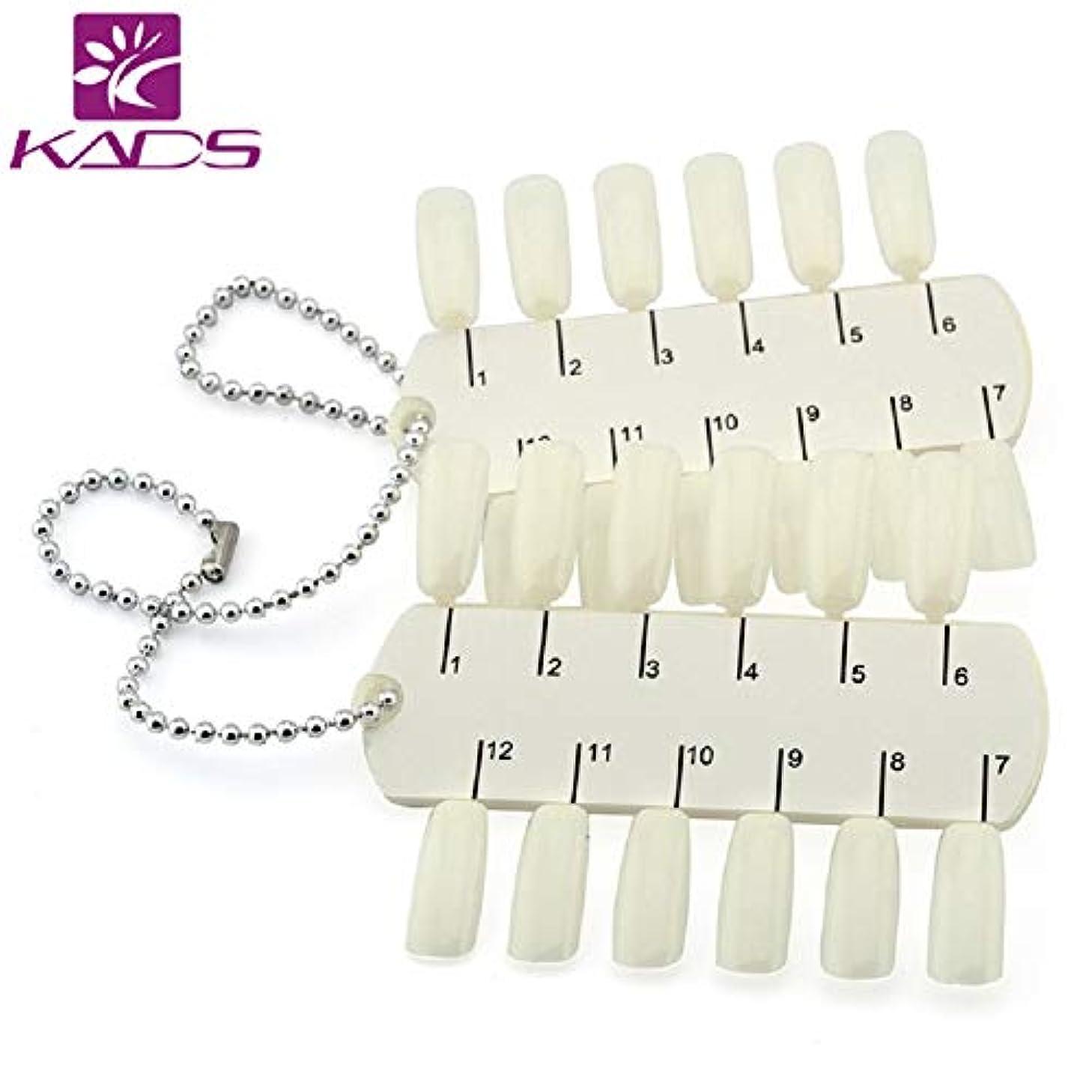 設置愚かな仮装KADS ネイルカラーチャート 24 ティップネイルカラーディスプレイカード ネイルアートディスプレイプレート ネイルポリッシュカラーカード