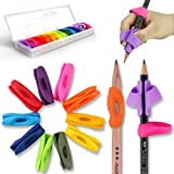 鉛筆もちかた 矯正 Firesara ペングリップ 左右手兼用 2019新発売 虹 レインボー 子供勉強セット 鉛筆握り方矯正 (12個)