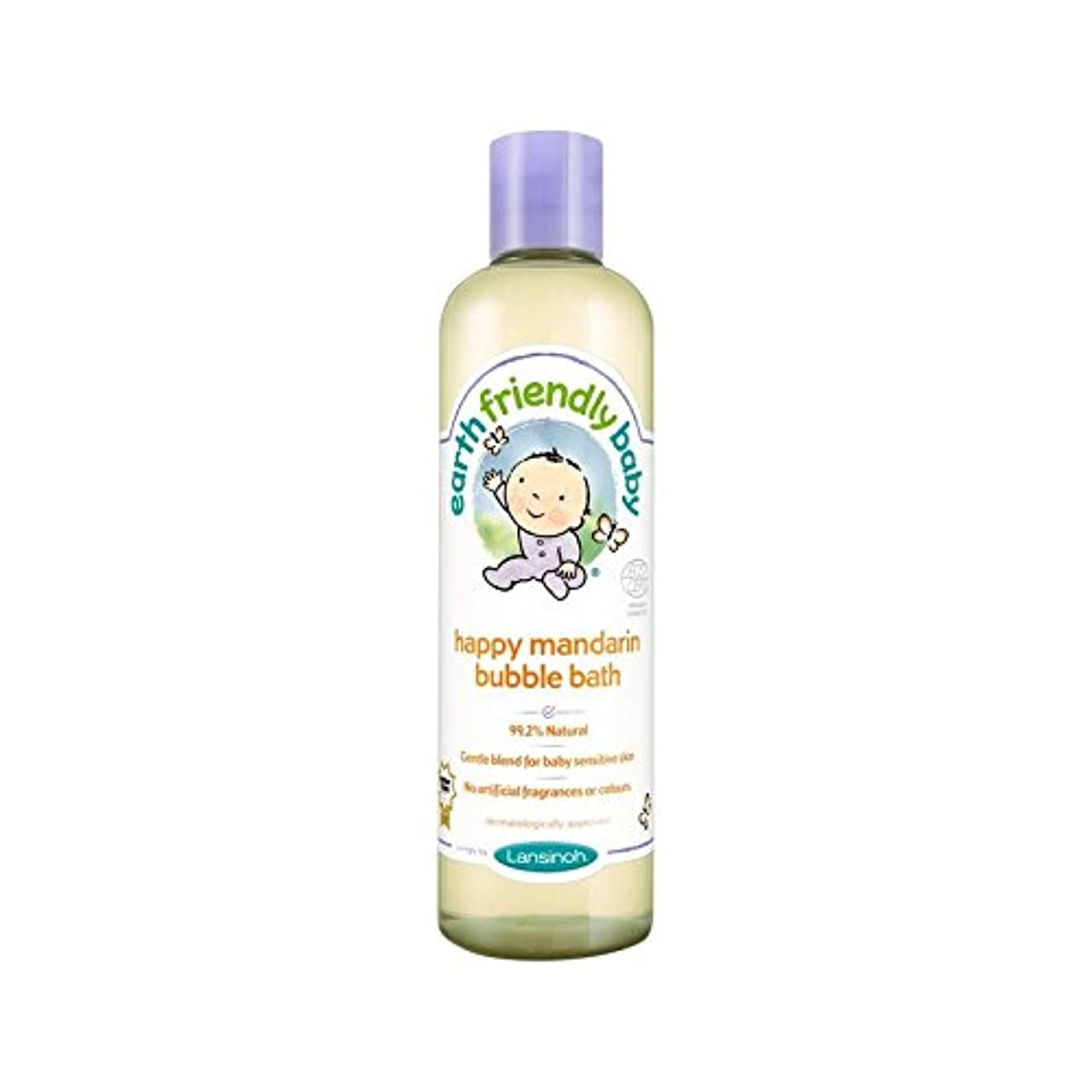 びんストレスホステス赤ちゃん幸せなマンダリン泡風呂のエコサートの300ミリリットル (Earth Friendly) (x 6) - Earth Friendly Baby Happy Mandarin Bubble Bath ECOCERT...