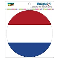オランダ国立国旗 - サークル MAG-格好いい'S(TM)カー/冷蔵庫マグネット