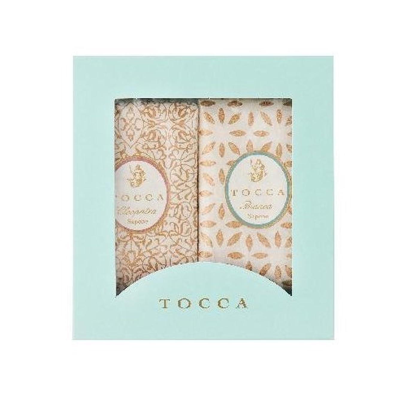 せがむ活気づける研磨剤トッカ(TOCCA) ソープバーBOXギフト (クレオパトラ & ビアンカ 箱入りギフト)