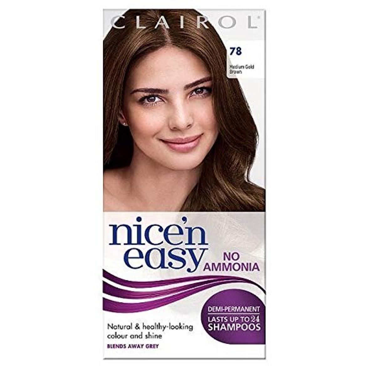 青アコー枠[Nice'n Easy] Nice'N簡単に無アンモニア染毛剤中ゴールデンブラウン78 - Nice'n Easy No Ammonia Hair Dye Medium Golden Brown 78 [並行輸入品]