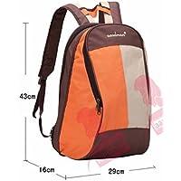 【ノーブランド品】マザーズバッグ ママバッグ 旅行バッグ リュックサック aaa207-mmb011 (オレンジ)