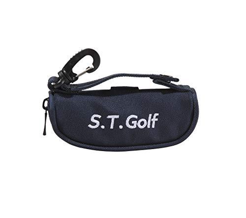 S.T.Golf ゴルフボールケース ボールポーチ おしゃれ な ゴルフボール 入れ 軽量 ボール3個 ティー3本収納 (ネイビー)