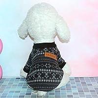 YZUEYT 犬のセーターペットテディ猫犬服ウールニット服秋と冬の犬服2019年春新しい YZUEYT (Color : Black, Size : XXL)