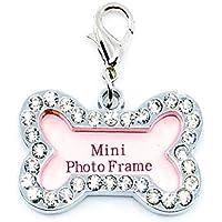 Dog Bone Photo Bling Purse Charm Key Chain - Put in Your Custom Photo