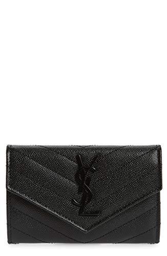 (サンローランパリ) SAINT LAURENT Monogram Quilted Leather French Wallet モノグラムキルティングレザーフレンチウォレット (並行輸入品)
