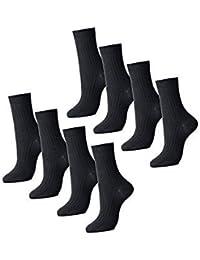 ブラック 8足組 セット ビジネス フォーマル メンズ 紳士 靴下 ソックス 抗菌 防臭 24cm~26cm シンプル ブラック 革靴 にも スニーカー にも 最適