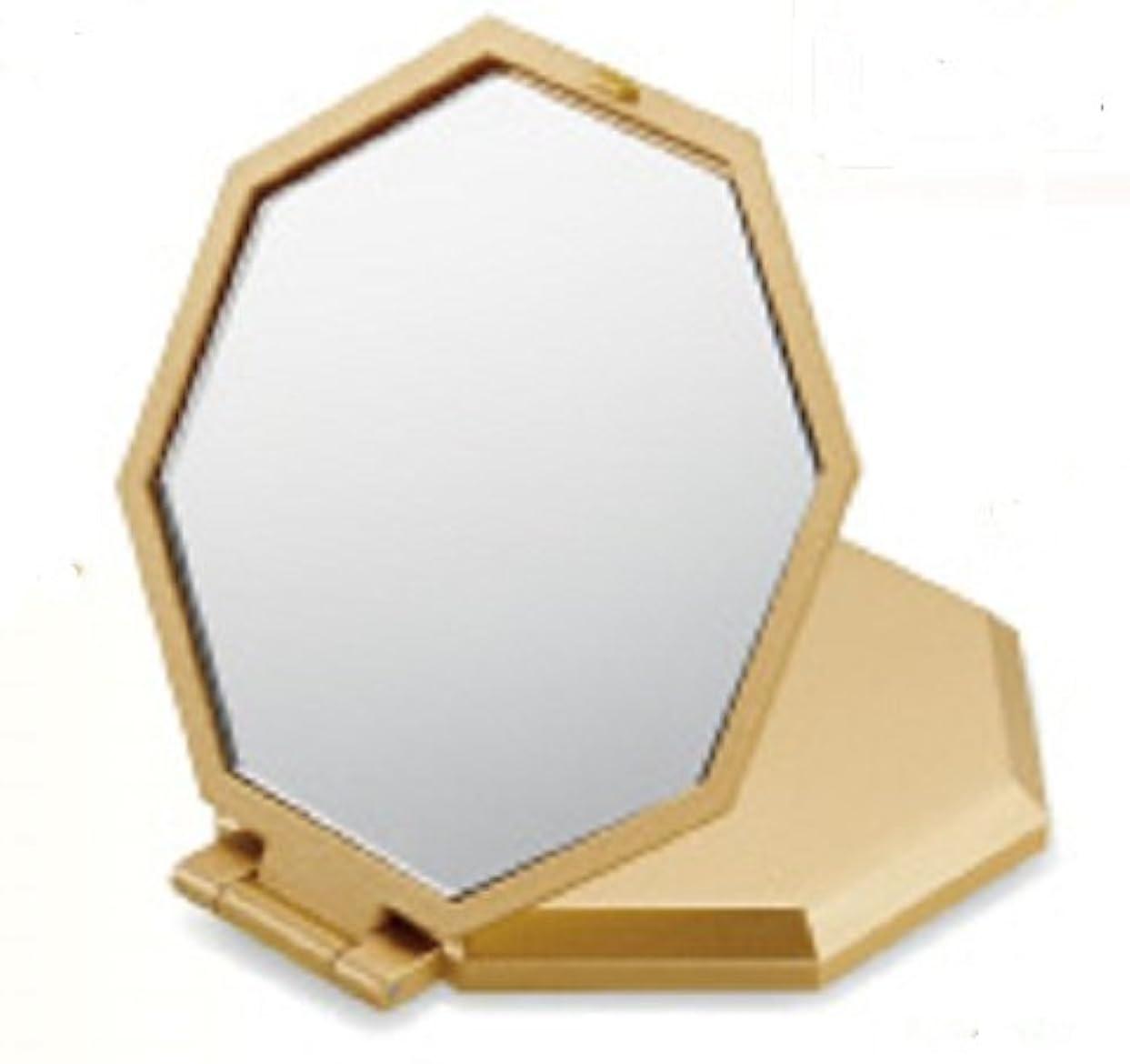 手当卒業と10倍拡大鏡コンパクト八角ミラー コンパクトミラー 拡大鏡 10倍 八角 手鏡 風水