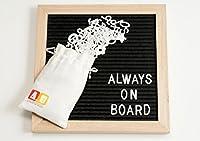 フェルトレターボードby Always On board-10X 10Decorative Changeable木製フレームLetterboard with 340文字、数字& symbols-storageバッグ&ウッドスタンド表示included-writeメッセージ、ノート。。。