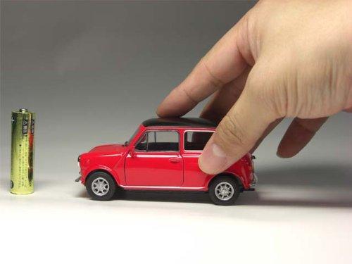 ローバー ミニ 1300 (1/32サイズ) 【プルバック式ダイキャストミニカー・世界の名車シリーズ】クラシックミニクーパー1.3/ROVER MINI COOPER(専用パッケージなし) (レッド)