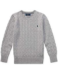 POLO RALPH LAUREN ポロ ラルフローレン ケーブルニット セーター メンズ Boys Cable-Knit Cotton Sweater 並行輸入品(USボーイズサイズ)(97215866) [並行輸入品]