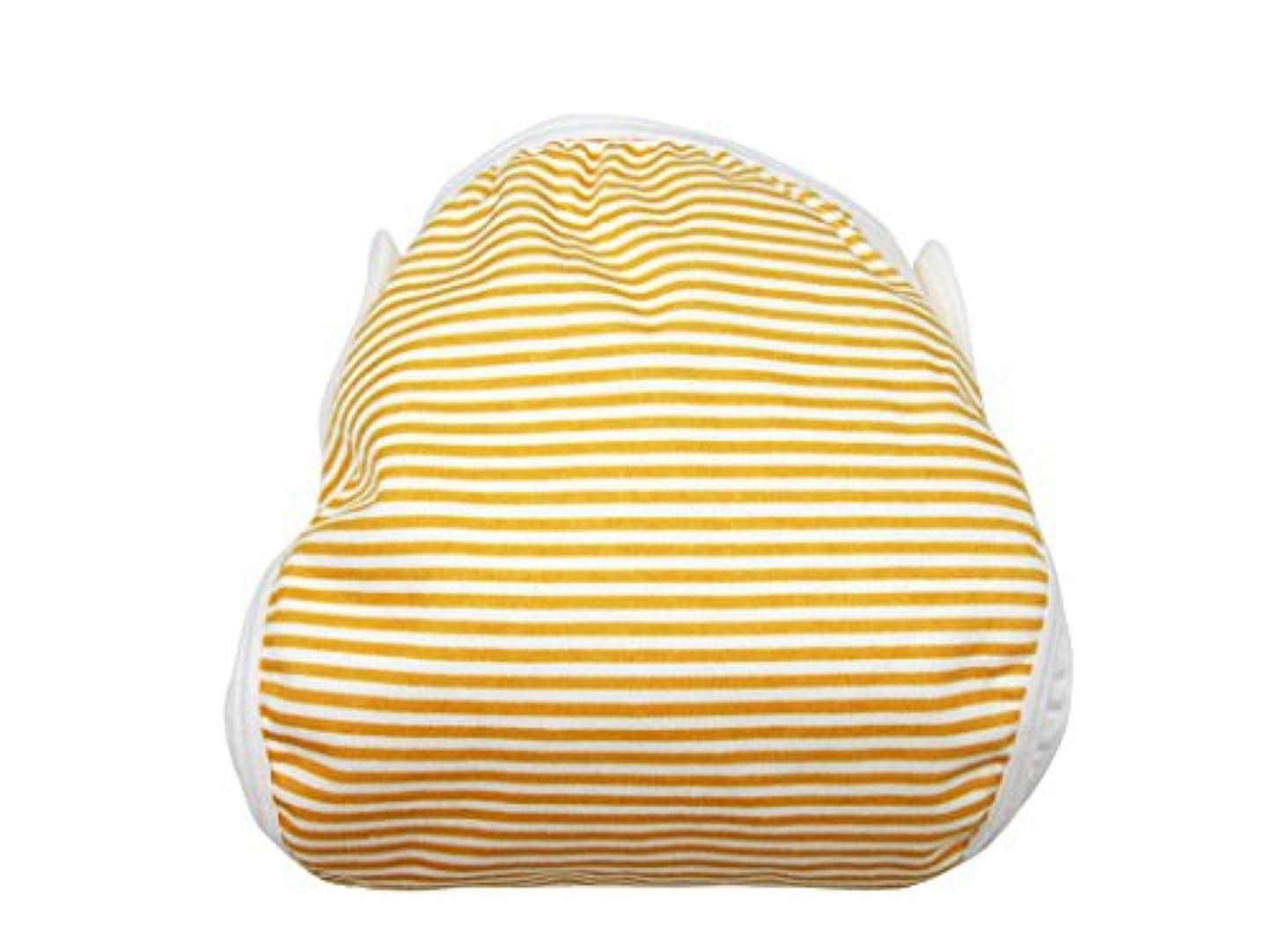 海上与える織機綿おむつカバー ボーダー柄 80cm オレンジ