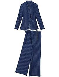 スーツ セットアップ  パンツスーツ ワイトパンツ 入学式 レディース スーツ ママ セットアップ パンツスーツ おしゃれ 入園式 セレモニー 通勤 ストライプ レディース パンツスーツ 大きいサイズ