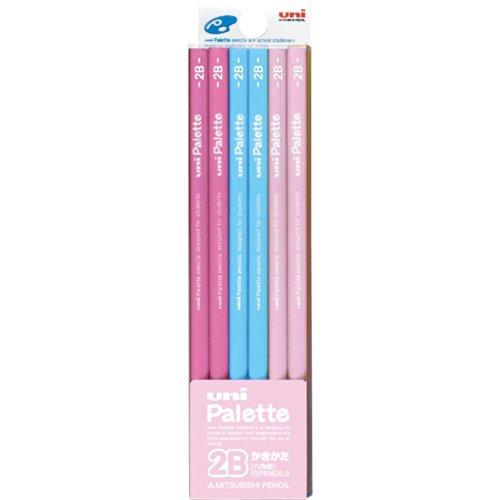 三菱鉛筆 かきかた鉛筆 ユニパレット 2B パステルピンク 1ダース K55612B