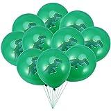 Amosfun 20ピース12インチラテックス風船かわいいラウンド恐竜風船ヘリウム風船ベビーシャワーキッズ誕生日パーティー用品インテリア(グリーン)