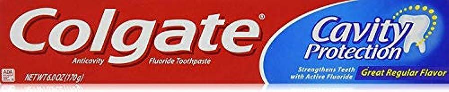 る実際うがい薬Colgate 空洞保護フッ化物の歯磨き粉、定期的なフレーバー、6.0オズ(3パック)