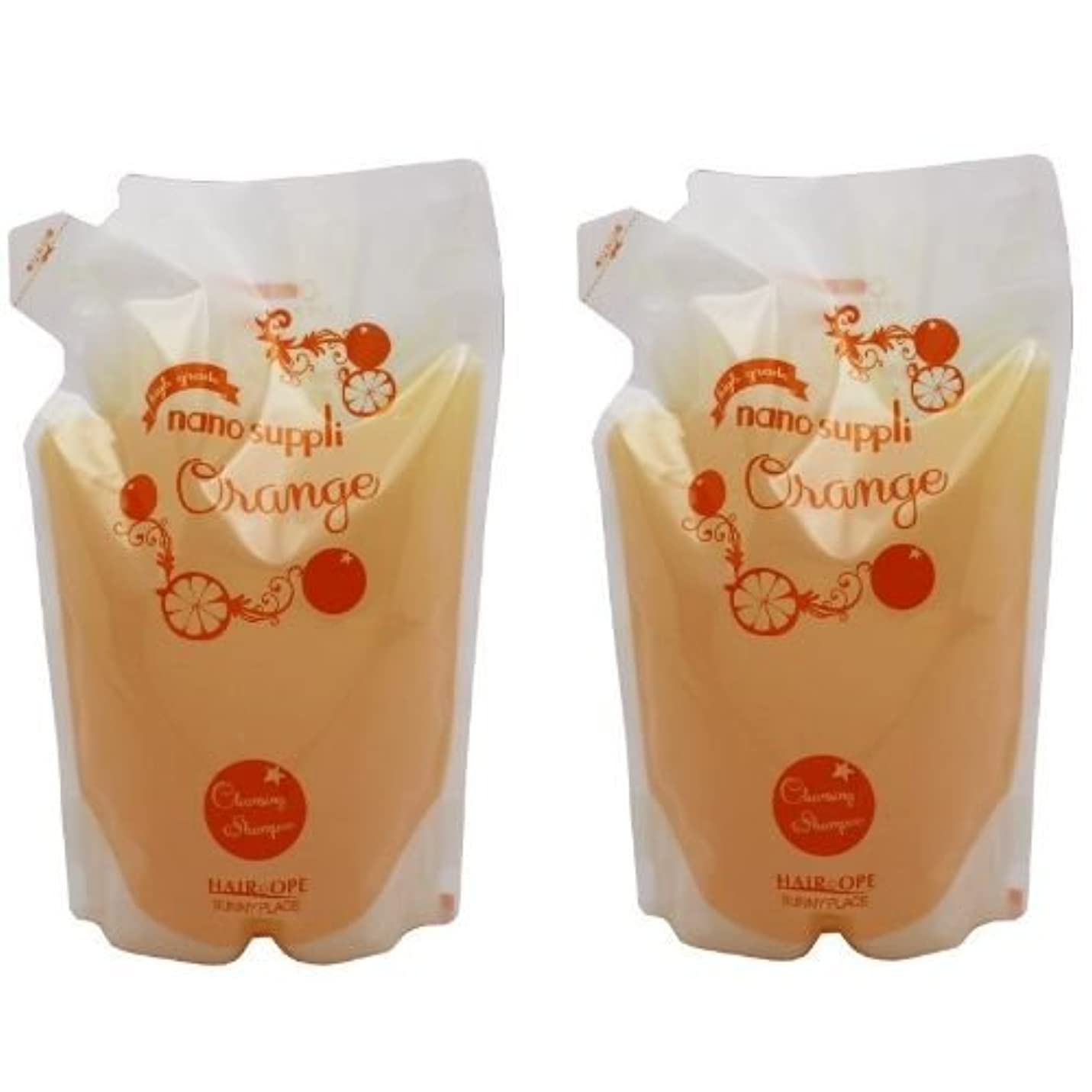 ロータリー描写水を飲む【X2個セット】 サニープレイス ナノサプリ クレンジングシャンプー オレンジ 800ml 詰替え用