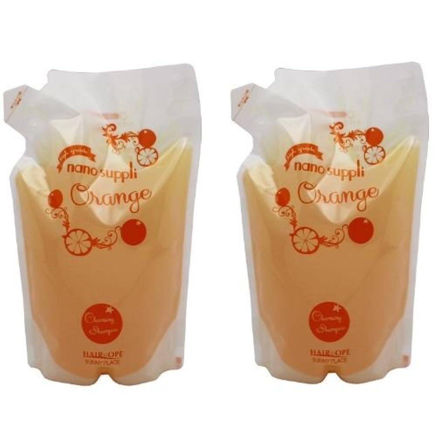 家奴隷広告【X2個セット】 サニープレイス ナノサプリ クレンジングシャンプー オレンジ 800ml 詰替え用